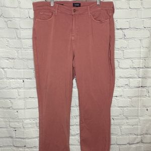 NYDJ Marilyn Straight Twill Pants sz 18